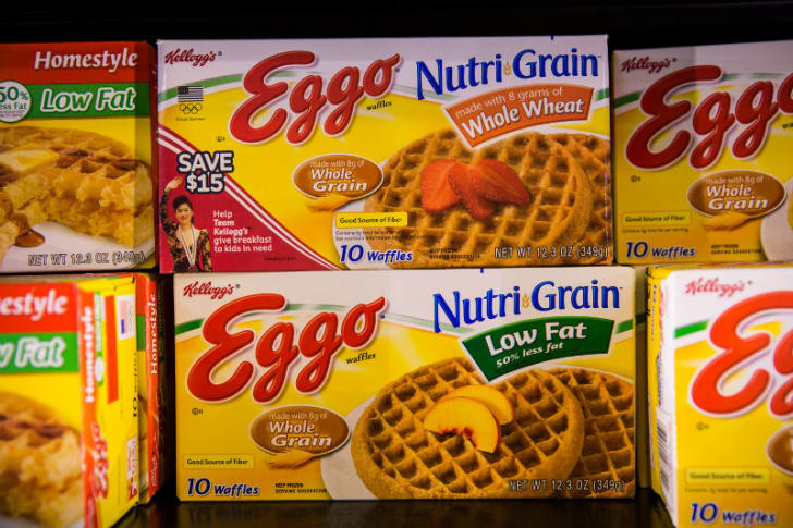 Boxes of Eggo Waffles are seen in a grocery store