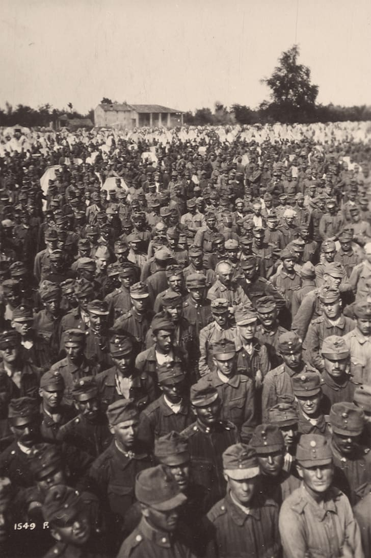 Austro-Hungarian POWs after the Vittorio Veneto battle, World War I