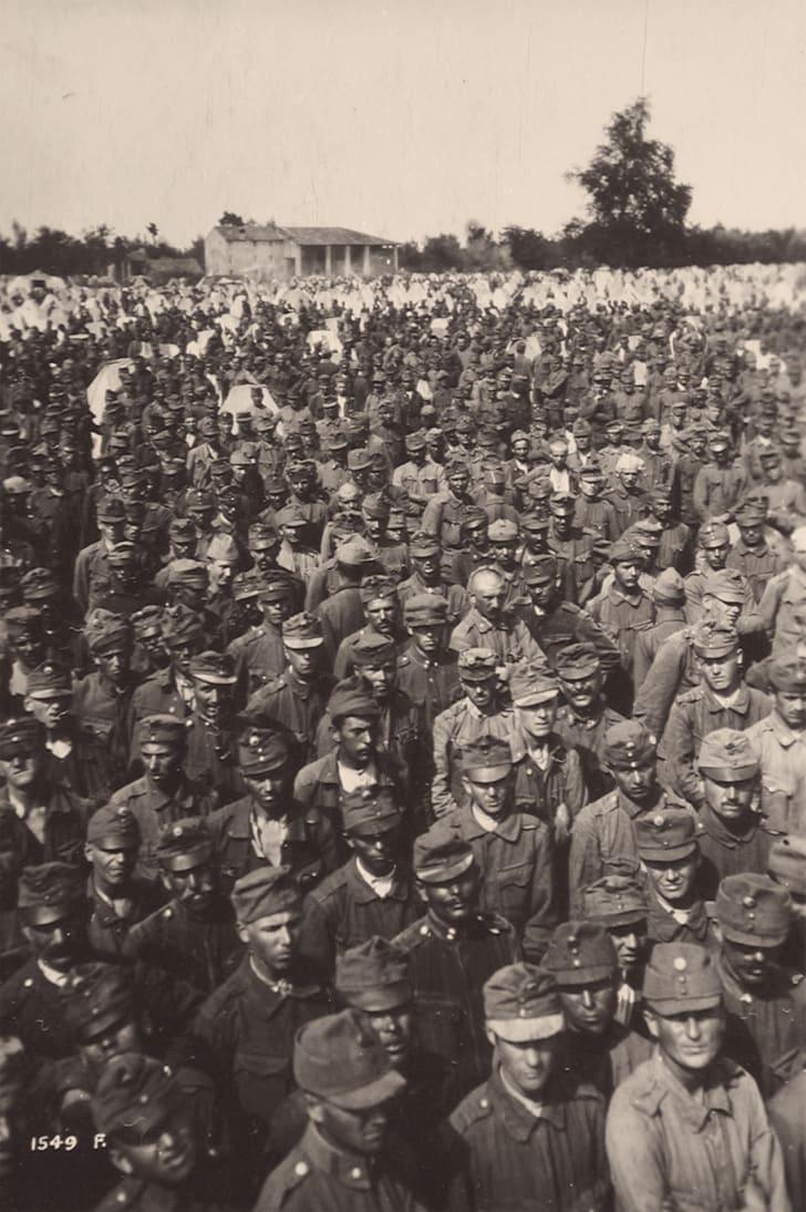 Austro-Hungarian POWs after the Vittorio Veneto battle, World War I