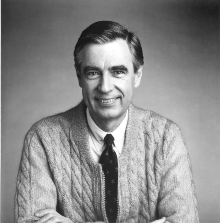 A publicity photo of Fred Rogers for 'Mr Rogers' Neighborhood'