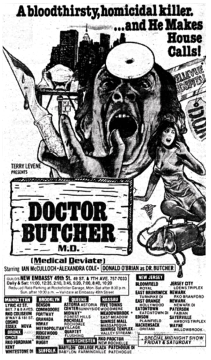 An ad for 'Doctor Butcher M.D.'