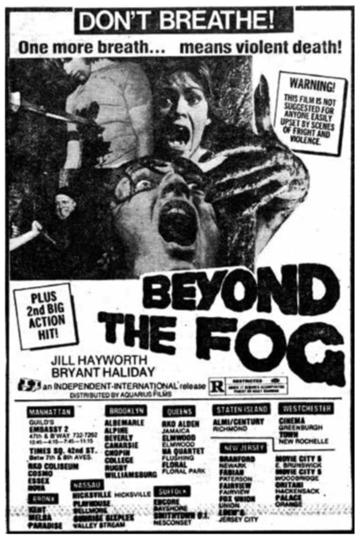 An ad for 'Beyond the Fog'