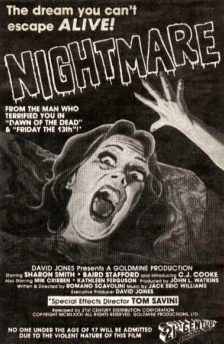 The original ad for 'Nightmare'