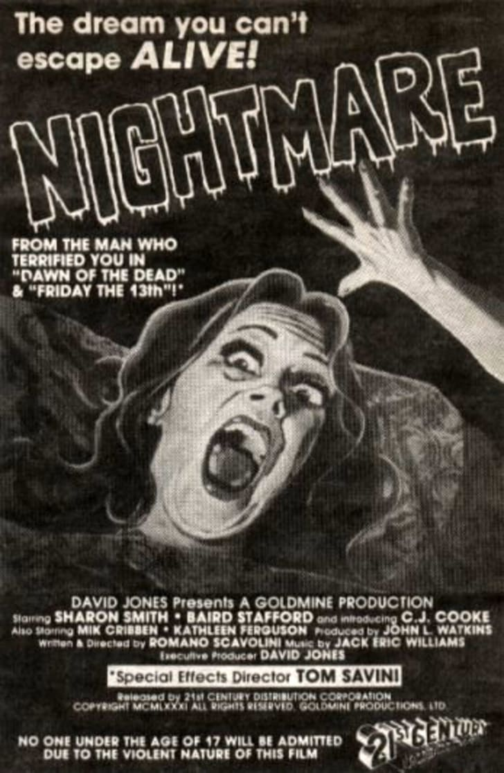 The original ad for 'Nightmare'