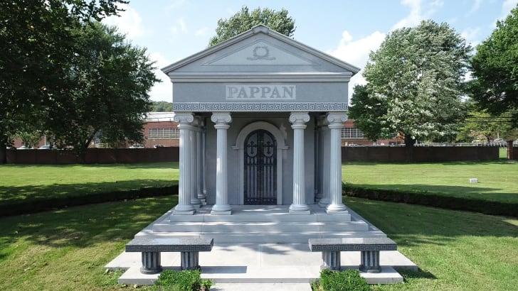A family mausoleum