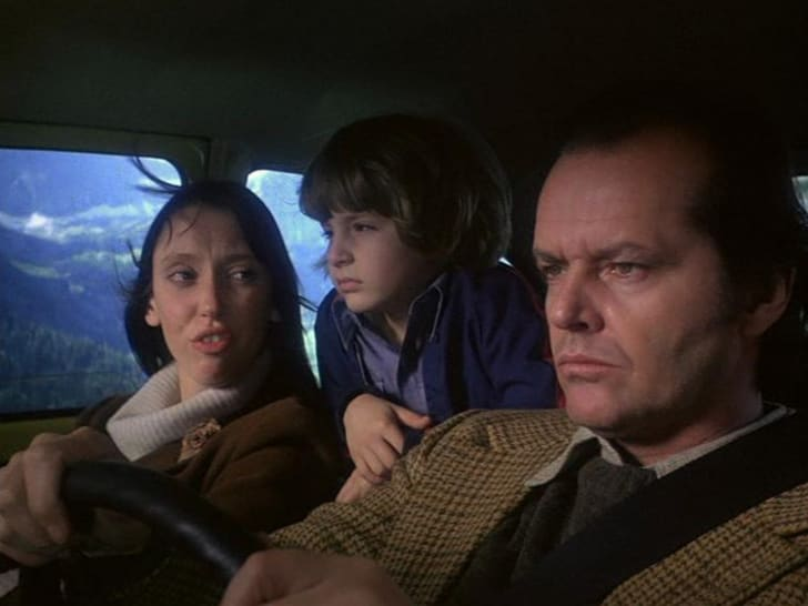 Jack Nicholson, Shelley Duvall, and Danny Lloyd in The Shining (1980)