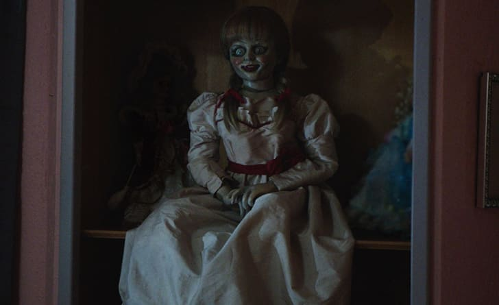 The creepy doll at the center of 'Annabelle' (2014)