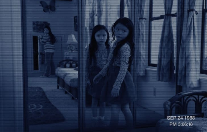 Jessica Tyler Brown and Chloe Csengery in 'Paranormal Activity 3' (2011)