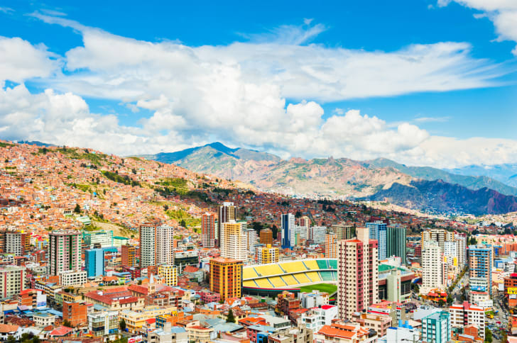 Panoramic view of La Paz city, Bolivia