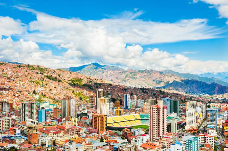 Panoramic view of La Paz city, Bolivia