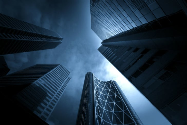 Buildings stretch into the sky