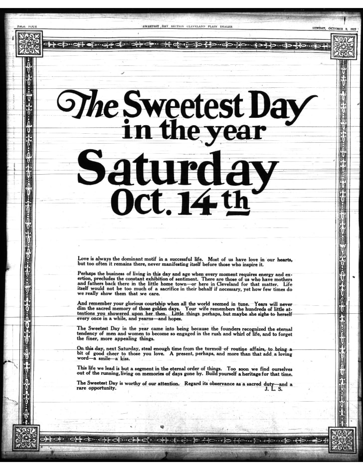 A 1922 ad in the Cleveland Plain Dealer.