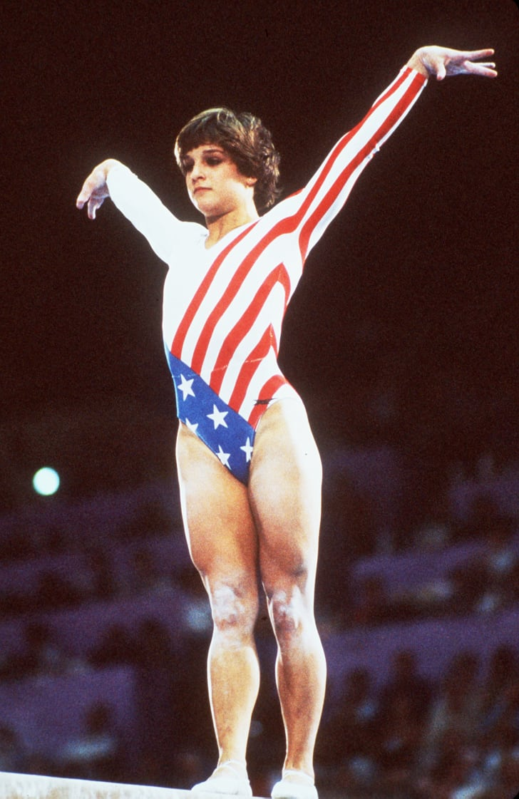 Mary Lou Retton at the 1984 Olympics.