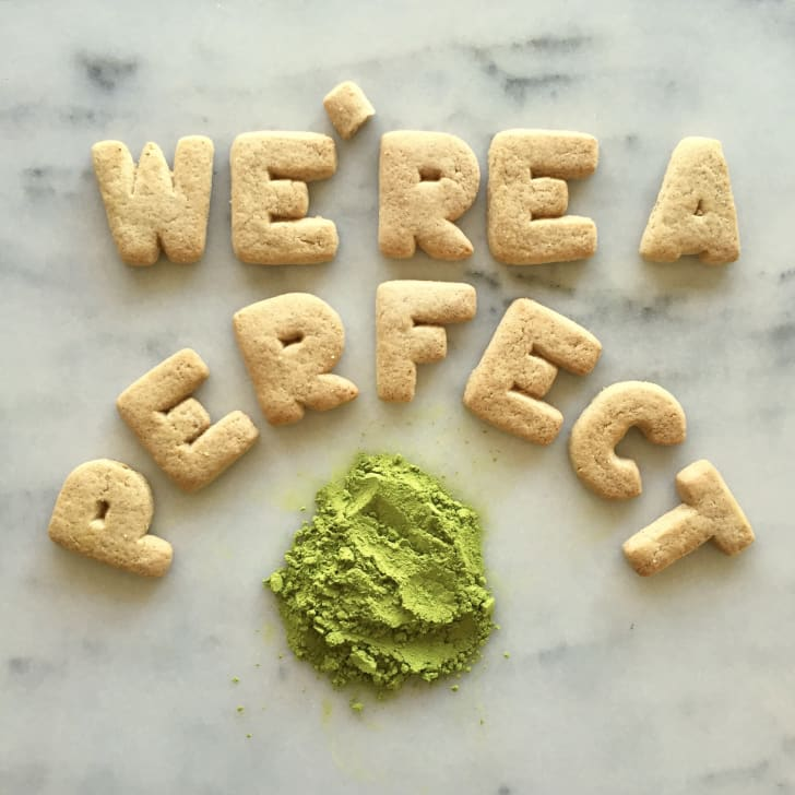 """The pun reads """"We're a perfect matcha"""""""