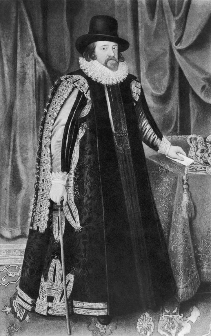 Sir Francis Bacon painted by Paul Van Somer