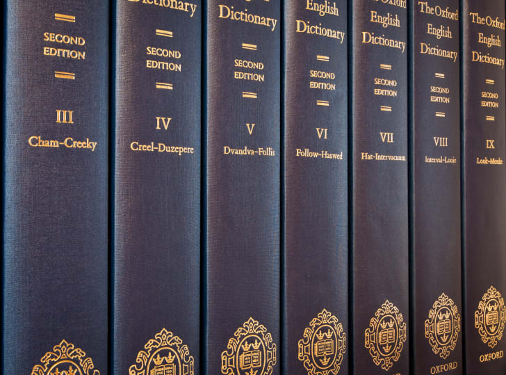 Copies of the Oxford English Dictionary