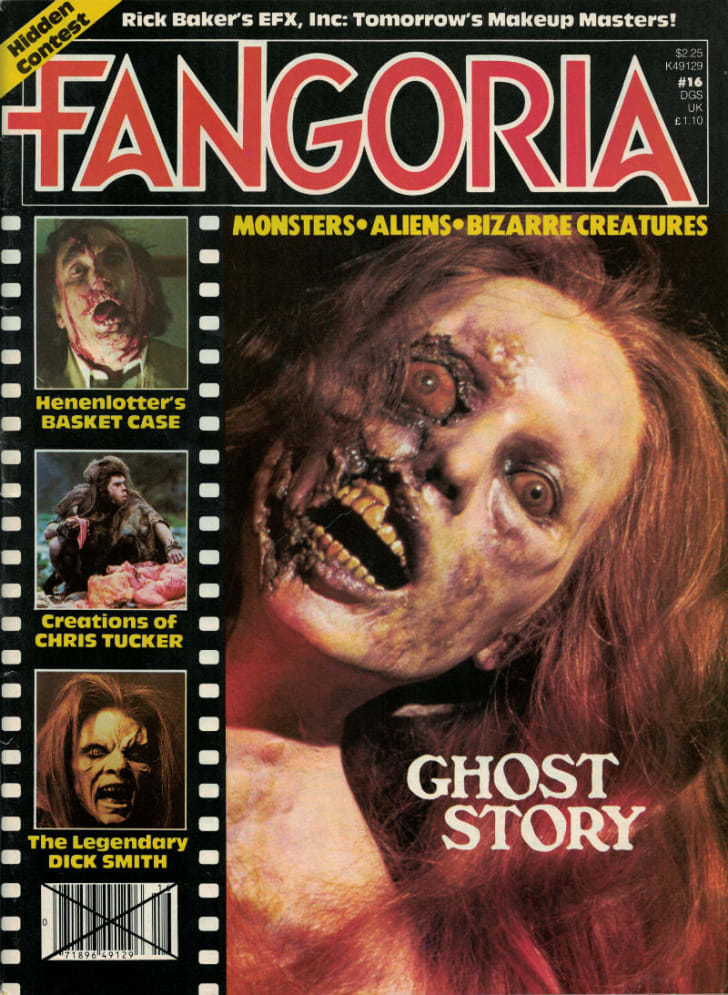 A 'Fangoria' cover featuring the film 'Ghost Story'