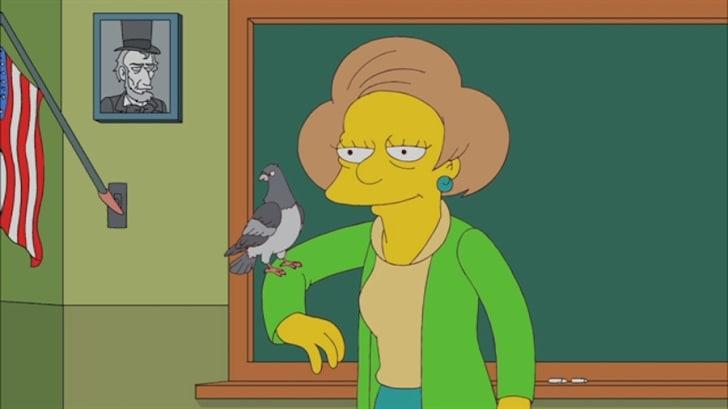 Edna Krabappel in 'The Simpsons'