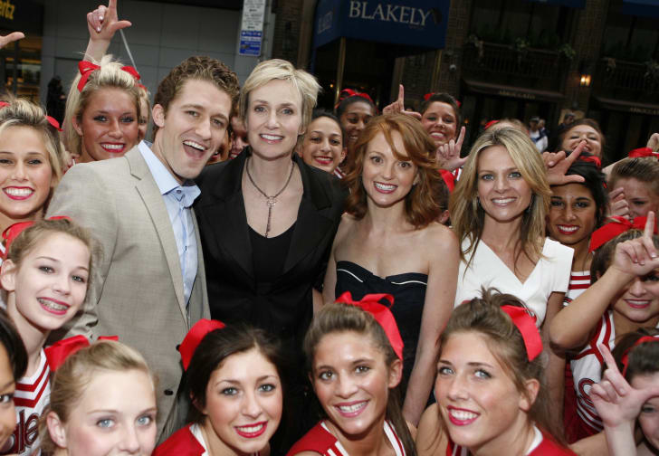 Matthew Morrison, Jane Lynch, Jayma Mays and Jessalyn Gilsig from 'Glee'