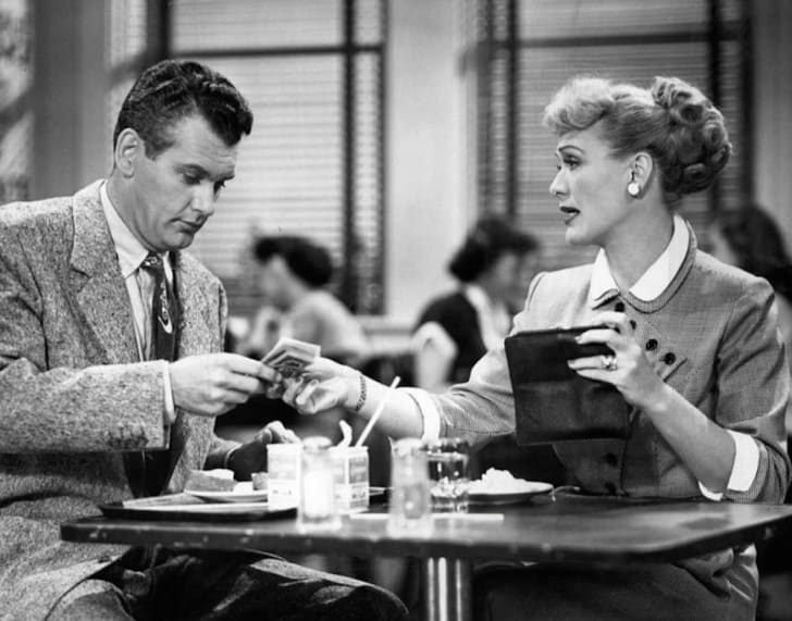 Eve Arden (Connie Brooks) and Robert Rockwell (Phillip Boynton) in 'Our Miss Brooks'