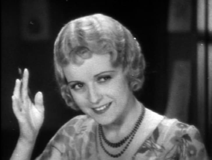 June Marlowe as Miss Crabtree in the 1930 Our Gang short 'School's Out'