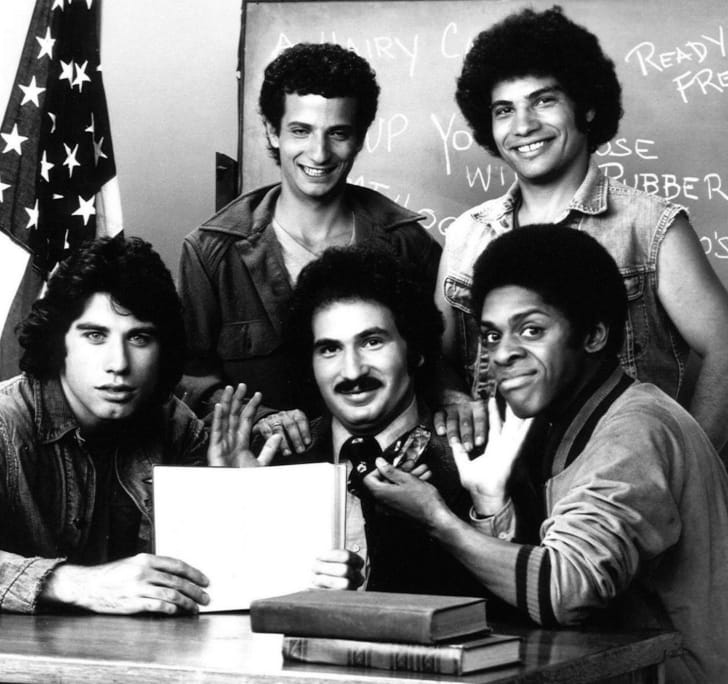 A cast photo from 'Welcome Back, Kotter'