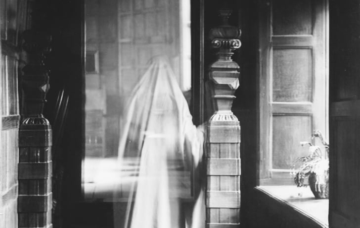 A photo of a ghost in the 1890s