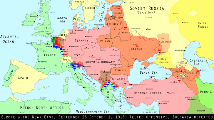 Europe, September 1918