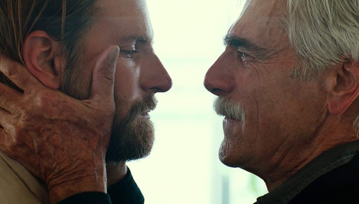 Sam Elliott and Bradley Cooper in 'A Star Is Born' (2018)
