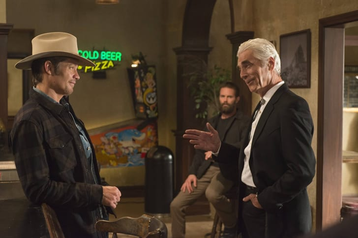 Sam Elliott, Garret Dillahunt, and Timothy Olyphant in 'Justified'