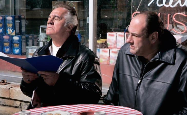 James Gandolfini and Tony Sirico in The Sopranos
