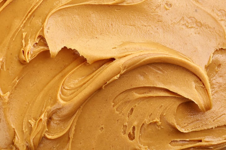Close-up of peanut butter.