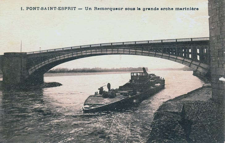 A postcard from Pont-Saint-Esprit
