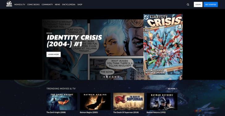 A screen shot of DC Universe