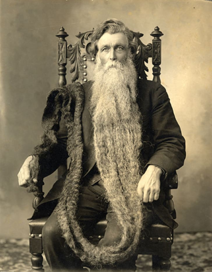 A portrait of Hans Langseth, the man reputed to have the world's longest beard