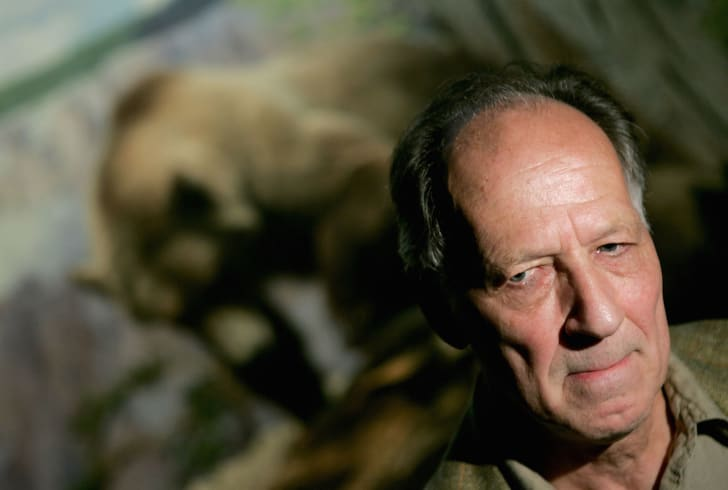 Director Werner Herzog conducts media interviews prior to the Lions Gate screening of 'Grizzly Man' at the American Museum of Natural History's LeFrak Theater July 20, 2005 in New York City