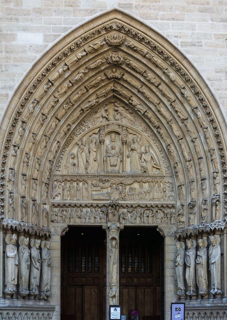 The Sainte-Anne Portal at Notre-Dame