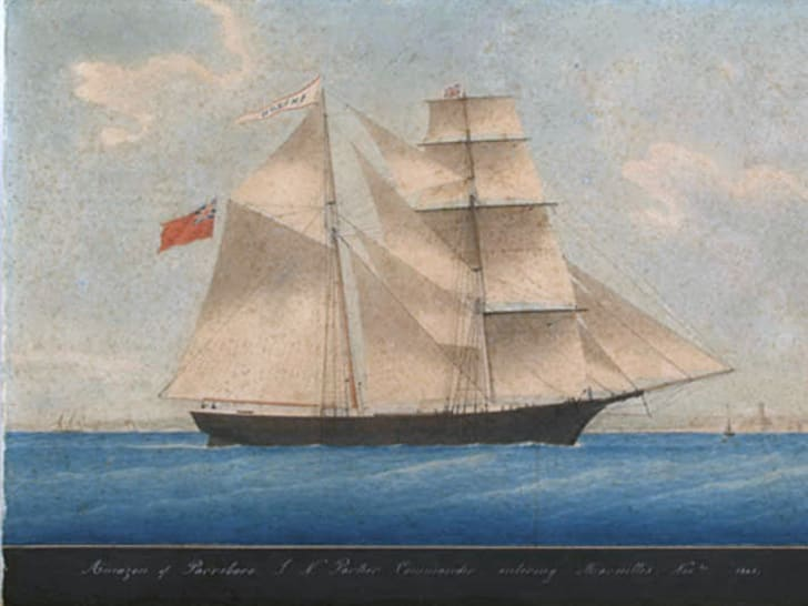 The Amazon in 1861. The ship was later renamed Mary Celeste.