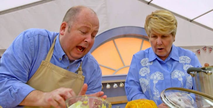 Sandi Toksvig in 'The Great British Bake Off'