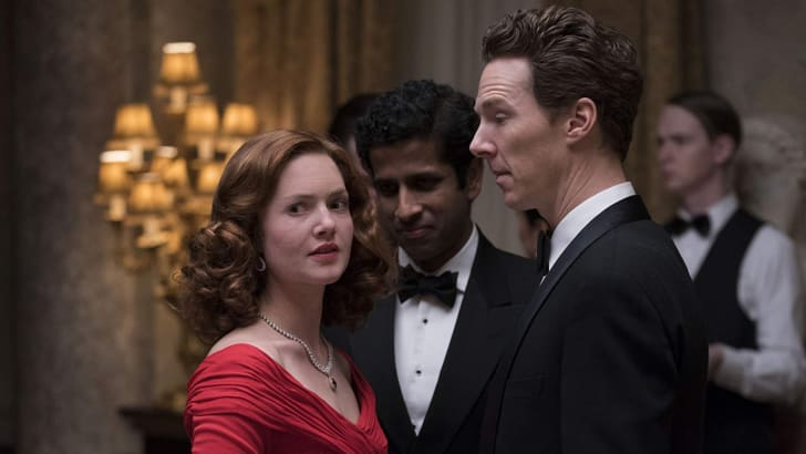Holliday Grainger, Benedict Cumberbatch, and Prasanna Puwanarajah in 'Patrick Melrose'