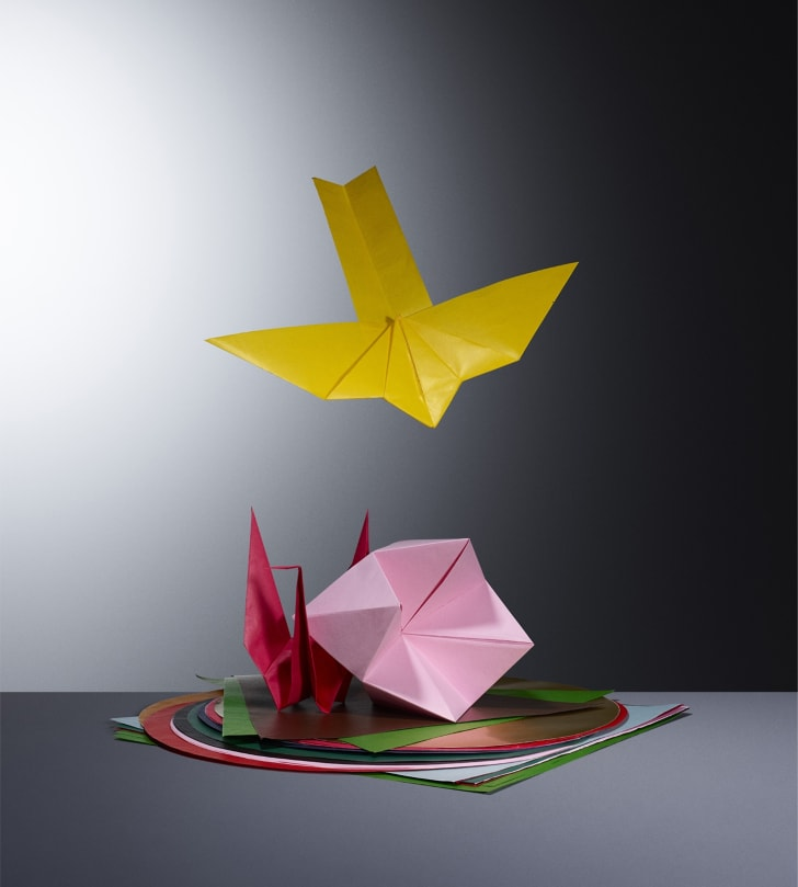 Origami shapes.