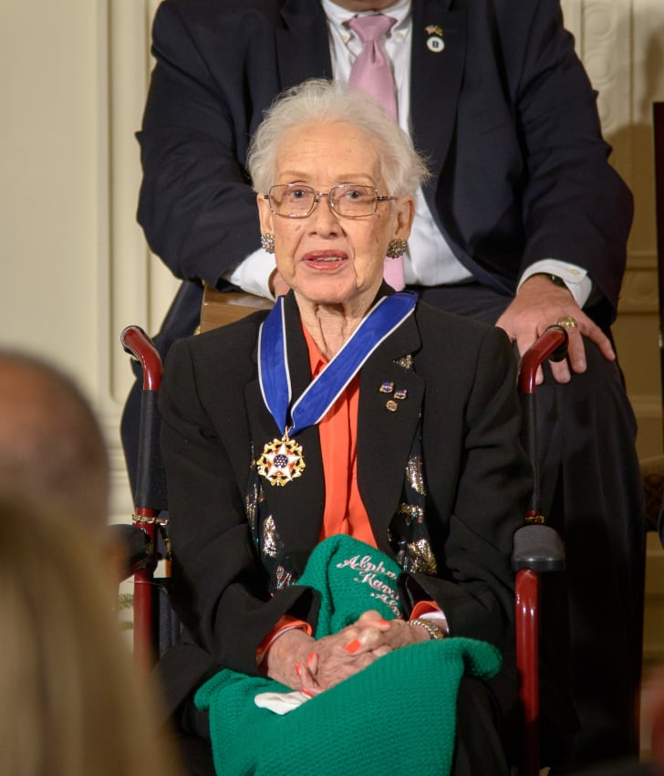 Katherine Johnson receiving the Presidential Medal of Freedom in 2015