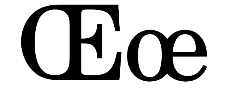 The upper and lowercase versions of the letter ethel.