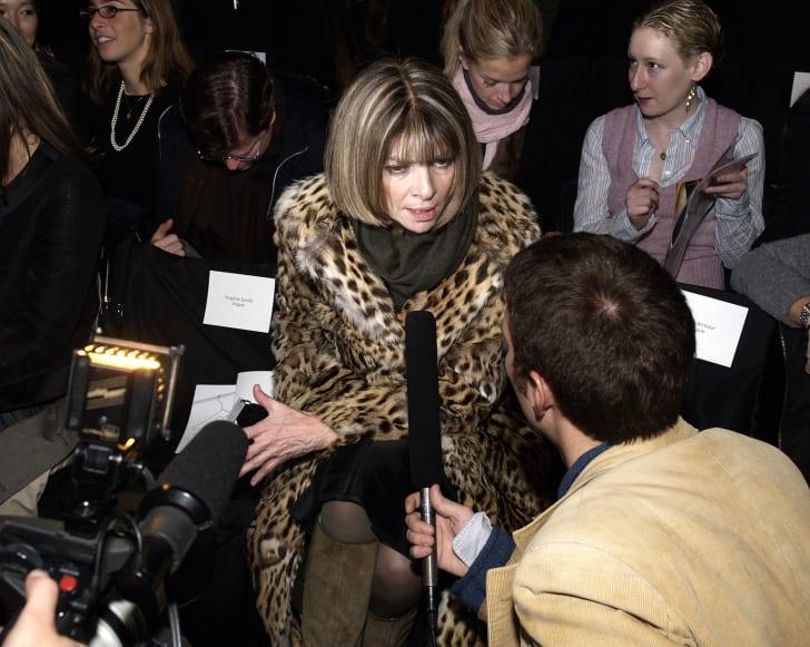 Anna Wintour at fashion week.