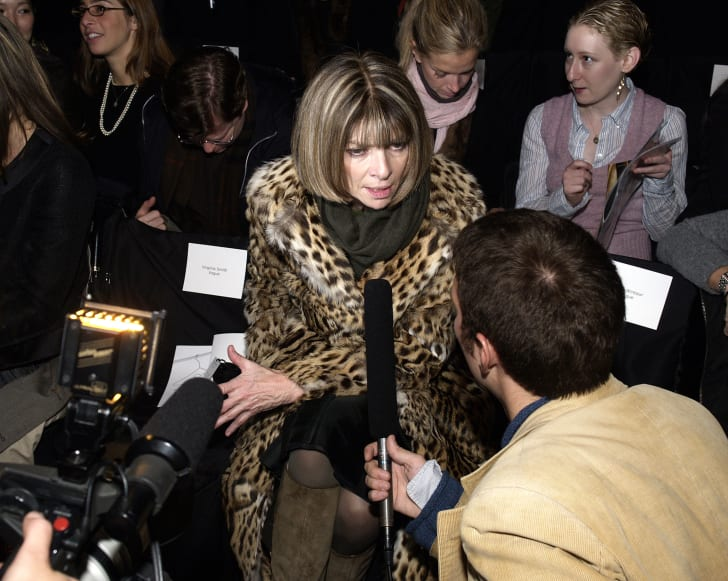 Anna Wintour at fashion week.