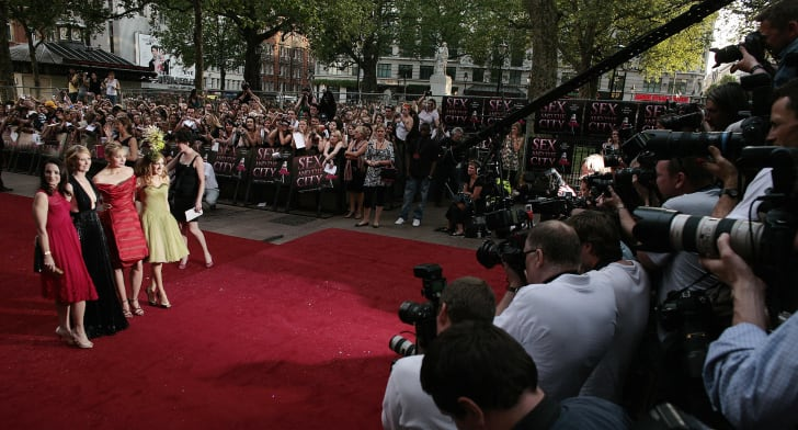 Kristin Davis, Cynthia Nixon, Kim Cattrall, and Sarah Jessica Parker arrive at the world premiere of the
