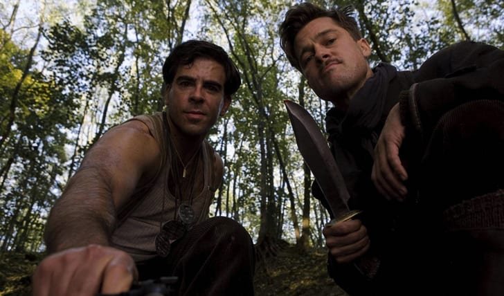 Eli Roth and Brad Pitt in Quentin Tarantino's 'Inglourious Basterds' (2009)