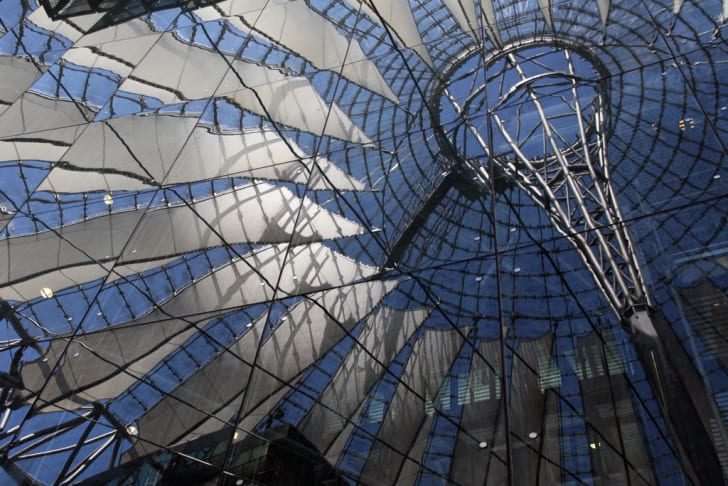 An image from the Sony Center at Potsdamer Platz