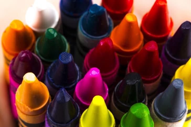 Lots of crayons.