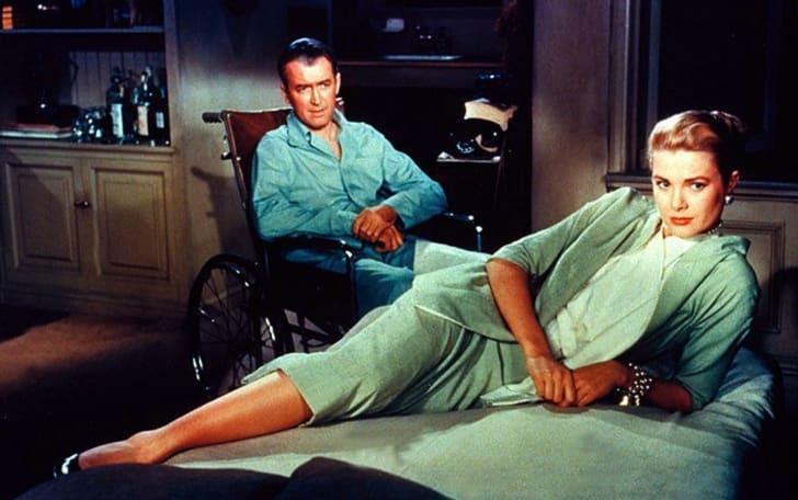 Grace Kelly and James Stewart in 'Rear Window' (1954)